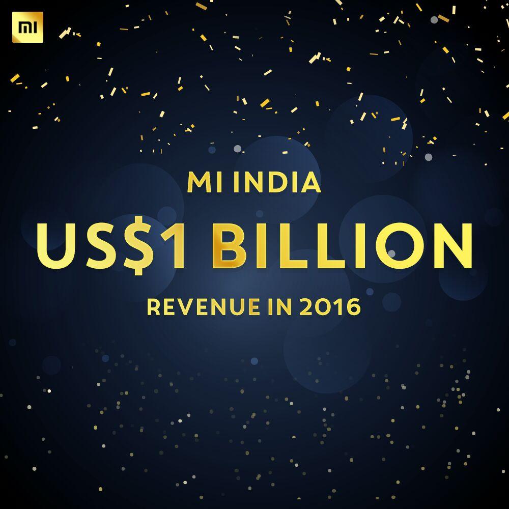 Xiaomi India's revenue