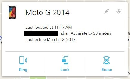 how to track a lost phone - Android device manager