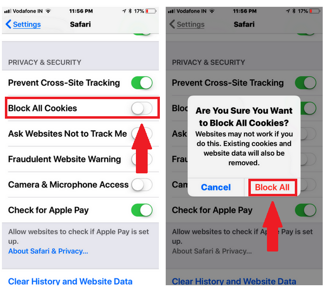 How to Clear Cookies on iPhone Blocking all Cookies on iPhone
