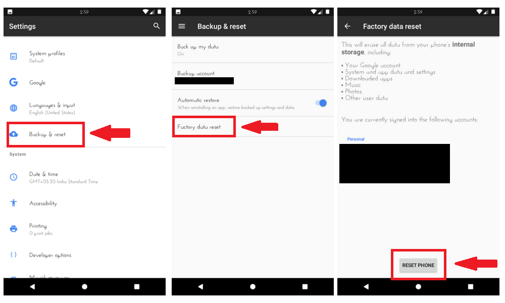 How to Factory reset Android smartphone of yours