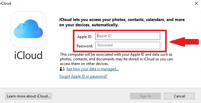 Download Photos from iCloud to Windows PC