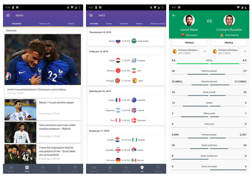 best football apps for iphone
