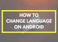 how to change language on android