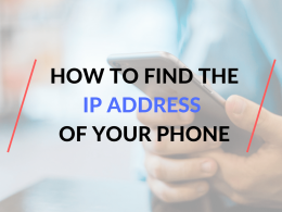how to find the ip address of my phone